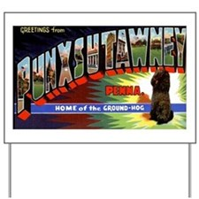 Punxsutawney Pennsylvania Groundhogs Day Yard Sign
