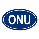 ONU Oval Decal