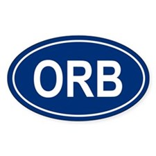 ORB Oval Decal