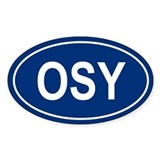 OSY Oval Decal