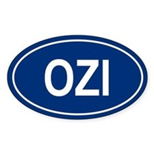 OZI Oval Decal