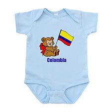 Colombia Teddy Bear Onesie