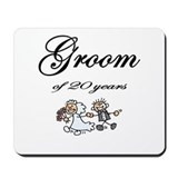 20th Wedding Anniversary Groom Mousepad