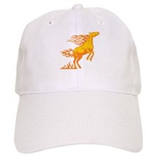 Orange Horse Flames Cap