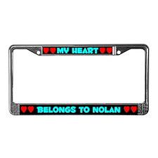 My Heart: Nolan (#003) License Plate Frame