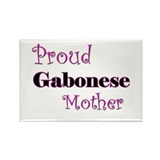 Proud Gabonese Mother Rectangle Magnet
