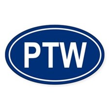 PTW Oval Bumper Stickers