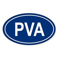PVA Oval Decal