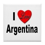 I Love Argentina Tile Coaster