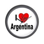 I Love Argentina Wall Clock