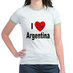 I Love Argentina Jr. Ringer T-Shirt