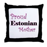 Proud Estonian Mother Throw Pillow