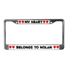 My Heart: Nolan (#004) License Plate Frame
