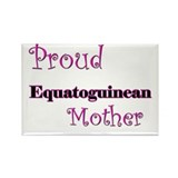 Proud Equatoguinean Mother Rectangle Magnet (10 pa