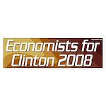 Economists for Clinton 2008 bumper sticker