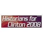 Historians for Clinton 2008 bumper sticker