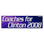 Coaches for Clinton 2008 bumper sticker