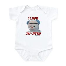 I LOVE JIU-JITSU (TEDDY BEAR) Infant Bodysuit