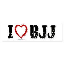 I (HEART) BJJ Bumper Bumper Sticker