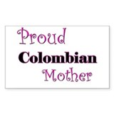 Proud Colombian Mother Rectangle Decal
