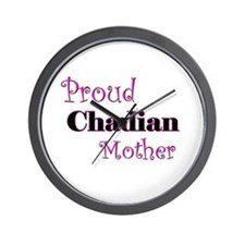 Proud Chadian Mother Wall Clock