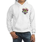 Lavender w/ Gold Daylily Hooded Sweatshirt