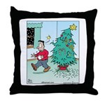 Water Me Christmas Tree Throw Pillow