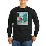 Water Me Christmas Tree Long Sleeve Dark T-Shirt