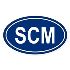 SCM Oval Decal
