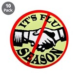 "IT'S FLU SEASON 3.5"" Button (10 pack)"