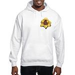 Peach Double Daylily Hooded Sweatshirt
