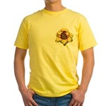 Peach Double Daylily Yellow T-Shirt