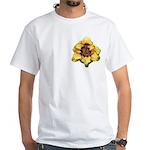 Peach Double Daylily White T-Shirt