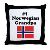 #1 Norwegian Grandpa Throw Pillow