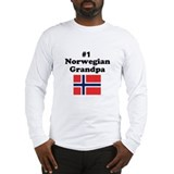 #1 Norwegian Grandpa Long Sleeve T-Shirt