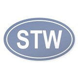 STW Oval Decal