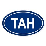 TAH Oval Decal