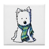 Winter Scarf Westie Tile Coaster