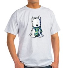 Plaid Scarf Westie T-Shirt