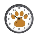 Pet Groomer Paw Print Wall Clock