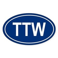 TTW Oval Decal