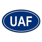 UAF Oval Decal