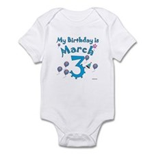 March 3rd Birthday Infant Bodysuit
