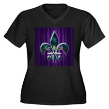 got beads? will flash Women's Plus Size V-Neck Dar