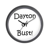 Dayton or Bust! Wall Clock