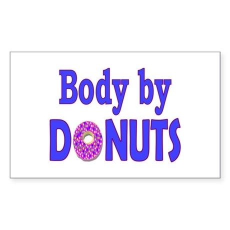 Body by Donuts Rectangle Sticker
