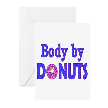 Body by Donuts Greeting Cards (Pk of 10)