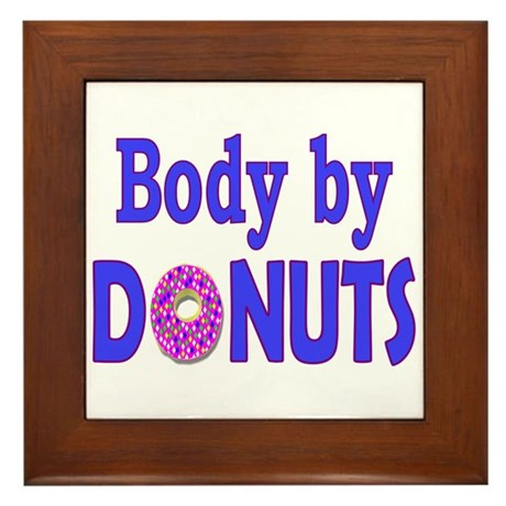 Body by Donuts Framed Tile
