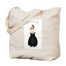 Redhead Diva in Black Dress Tote Bag