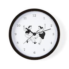 Retro Dancer Wall Clock